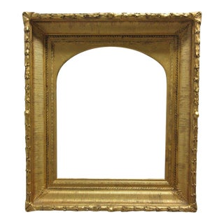 Early Antique Carved Deep Well Gold Picture Painting Frame