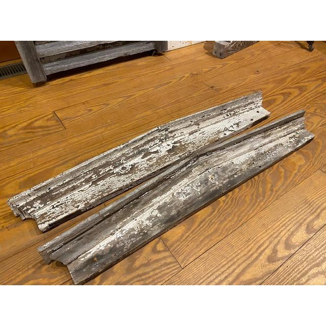 Farmhouse Rustic Wooden Architectural Element Pediments - a Pair For Sale - Image 3 of 6