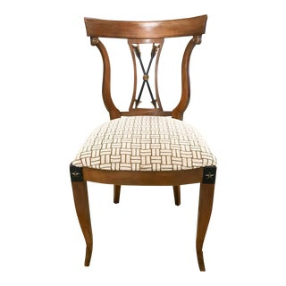 Old Biedermeier Style Chair with Arrow Splat