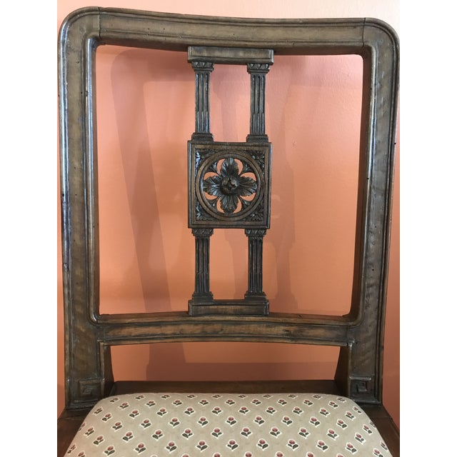 19th Century Walnut Side Chairs - a Pair For Sale - Image 9 of 12