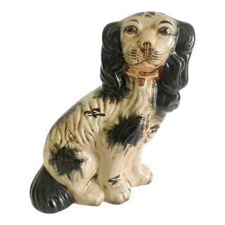 Antique Early 20th Century Staffordshire Dog Spaniel For Sale