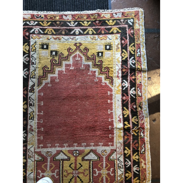 Early 20th Century Antique Turkish Wool Prayer Rug For Sale - Image 5 of 9