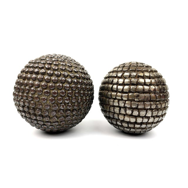 Silver Antique French Pétanque Balls - a Pair For Sale - Image 8 of 8