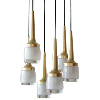 Six Light Hanging Fixture by Staff of Leuchten Germany
