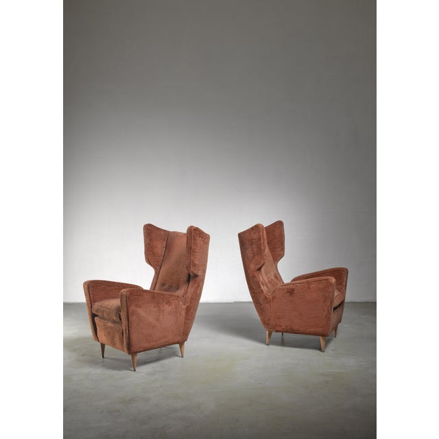 1950s Paolo Buffa Pair of Lounge Chairs, Italy, 1950s For Sale - Image 5 of 5