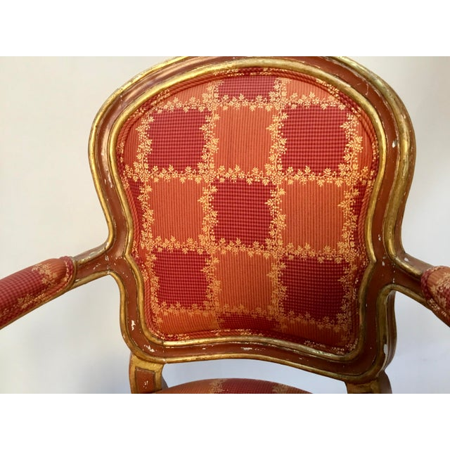 19th Century Venetian Louis XV Style Painted and Gilt Armchairs- A Pair For Sale - Image 10 of 13
