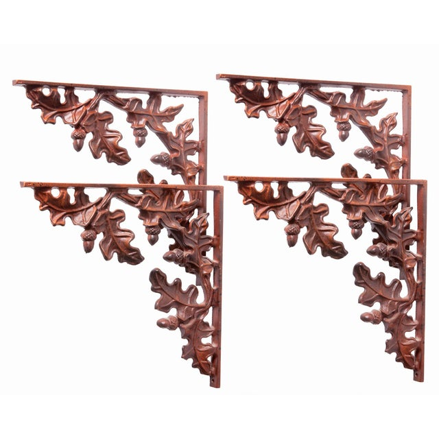 1990s Cabin Leaf Brackets - Set of 4 For Sale - Image 9 of 9