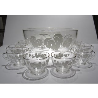Mid-Century Punch Bowl Set - 11 Pieces Preview