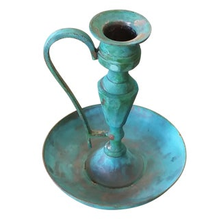 Vintage Bronze Candle Holder II For Sale