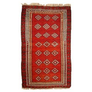 Antique Uzbek Gulyam Rug- 3′4″ × 5′6″ For Sale