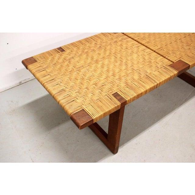 Wood Rare Borge Mogensen Bench, Made by Erhard Rasmussen, Denmark, 1950s For Sale - Image 7 of 13