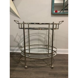 Vintage Hollywood Regency 2-Tier Chrome Bar Cart Preview