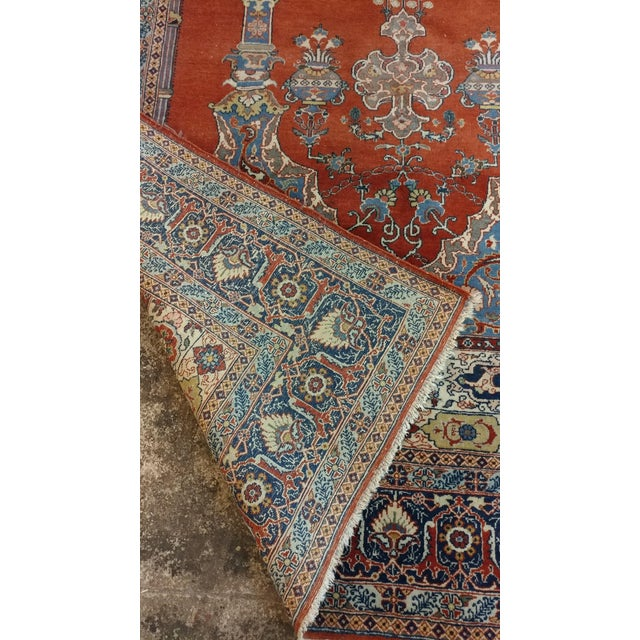 Antique Hand Made Persian Mashhad Rug - 4′4″ × 7′ For Sale - Image 9 of 10