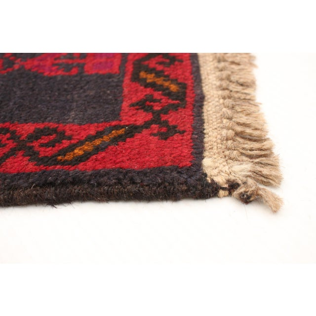 2010s Tribal Afghan Hand-Knotted Rug For Sale - Image 5 of 9