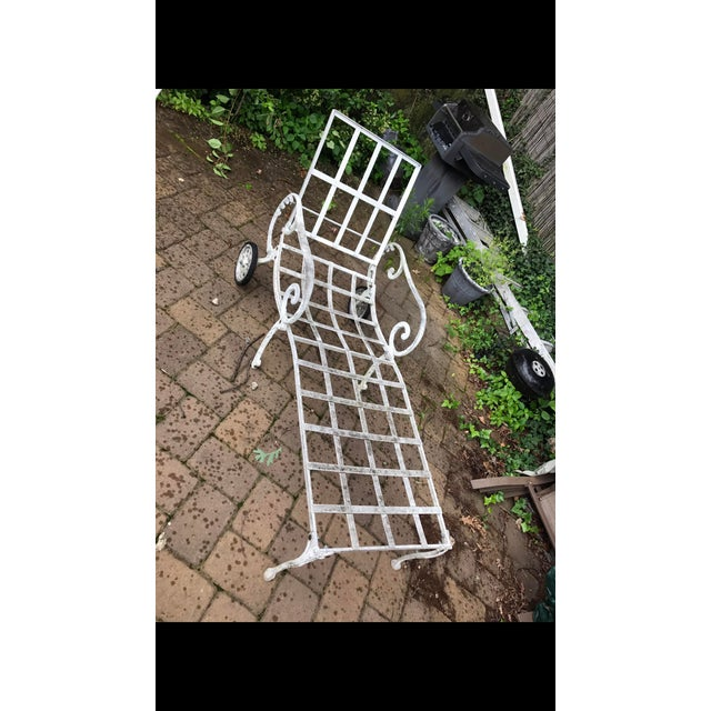A nice Salternin style lounge chair , solid condition and sturdy . Not marked.