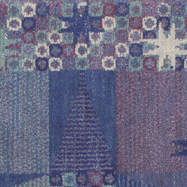 Mid 20th Century Vintage Scandinavian Carpet by Marta Maas-Fjetterström - 6′ × 6′ For Sale - Image 5 of 9