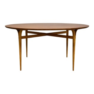 "Bruno Mathsson Teak 59"" Round Dining Table For Sale"