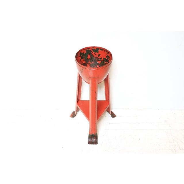 Mid-Century Red Metal Planter - Image 3 of 3