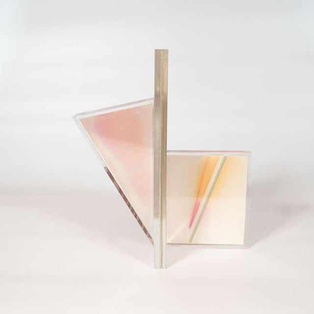 Mid-Century Modern Polychromatic Cast Acrylic Sculpture by Norman Mercer For Sale - Image 9 of 12