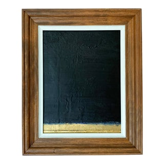 Contemporary Abstract Black and Gold Painting For Sale