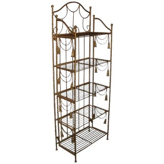 Hollywood Regency Brass Etagere For Sale