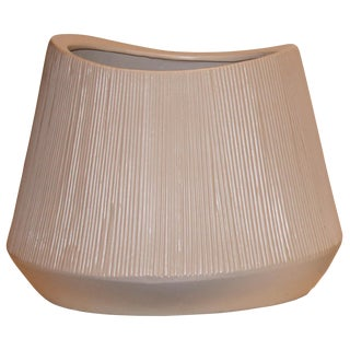 Contemporary Taupe Ceramic Cachepot For Sale