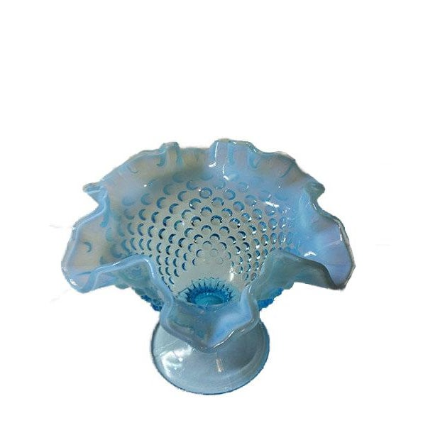 Fenton Blue Opalescent Hobnailed Glass Bowl - Image 3 of 4