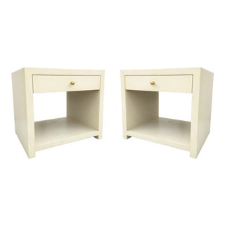 Pair of Stunning Vintage Side Tables/Nightstands in the Style of Karl Springer For Sale