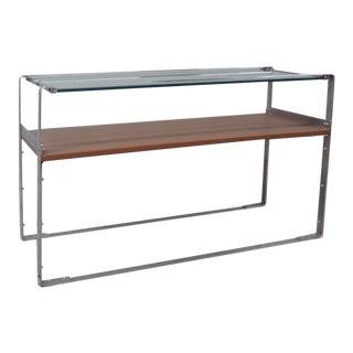 Art Deco Machine Age Donald Deskey Style Chrome Sofa Table Console For Sale