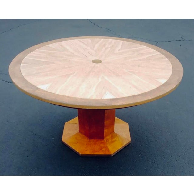 1960s Hollywood Regency Burled Wood Game Table For Sale - Image 11 of 11