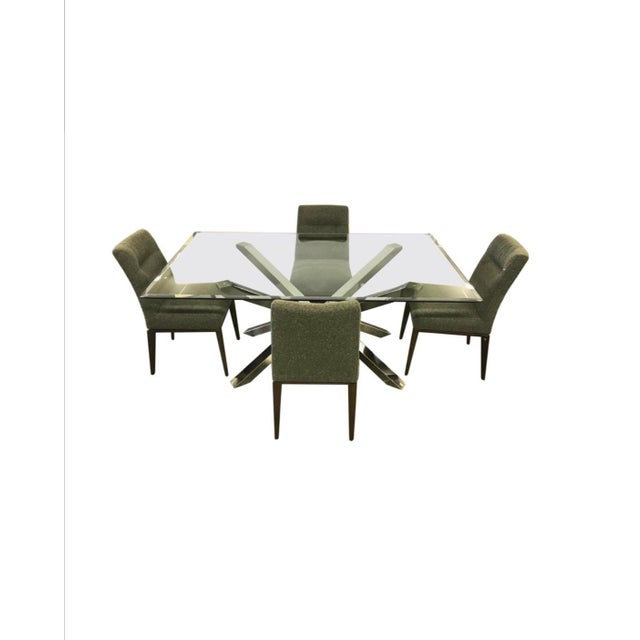 Glass and Chrome Dining Table and 4 Calligaris Chairs Set For Sale - Image 13 of 13
