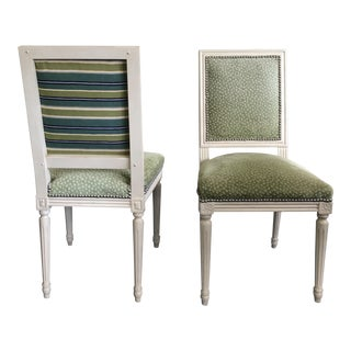Louis XVI Style Side Chairs - A Pair