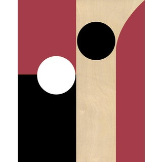 """""""Modern Yin & Yang"""" Hand Signed Fine Art Print on Canvas (Rectory Red) For Sale"""