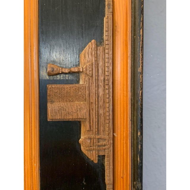 Carved Wood Art Nouveau Mirror With Fleur-DI-Lis For Sale - Image 10 of 13