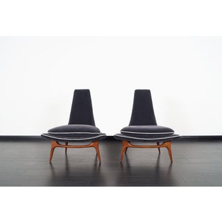 Vintage High Back Lounge Chairs by Karpen Preview