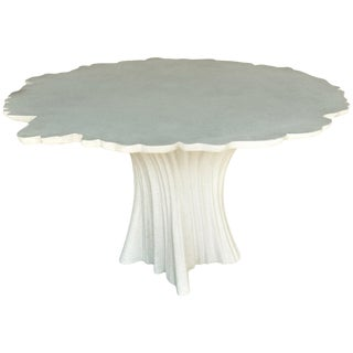 Cast Resin 'Perennial Cypress' Dining Table, White Stone by Zachary A. Design For Sale