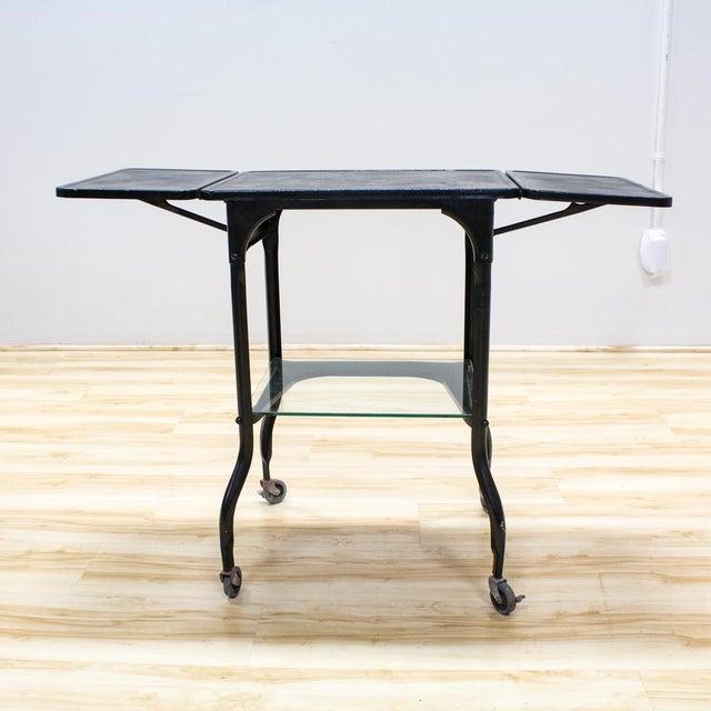 Black Industrial Bar Cart - Image 9 of 9