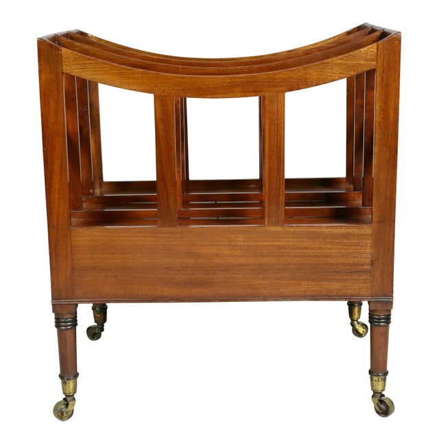 Gold Regency Style Mahogany Canterbury For Sale - Image 8 of 9