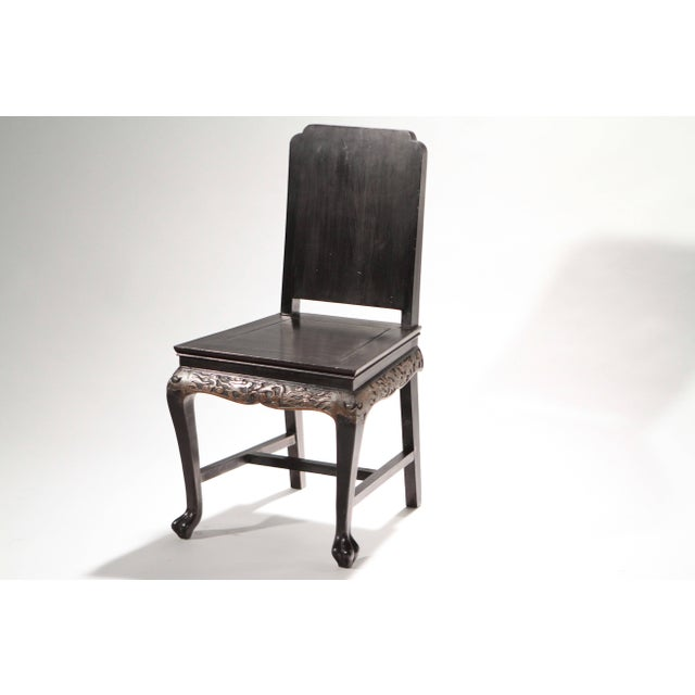 Neoclassical French Chinoiserie Neoclassical Chair, 1960s For Sale - Image 3 of 9