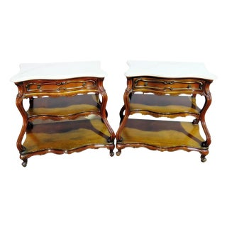 Pair of French Bombay End Tables For Sale