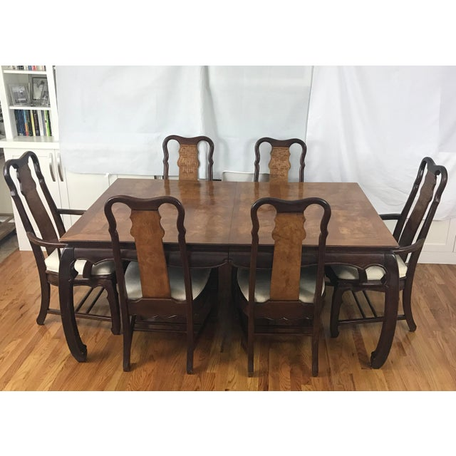 Chinese Chippendale Style Dining Table & Six Chairs- 7 Pieces - Image 2 of 11