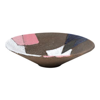 Bitossi Patchwork Glazed Stoneware Bow For Sale