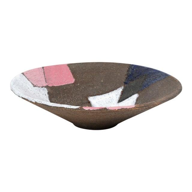 Bitossi Patchwork Glazed Stoneware Bowl For Sale