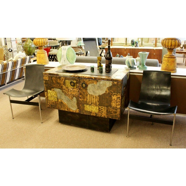 Mid Century Modern Paul Evans Directional Slate Top Copper Patchwork Cabinet 1960s For Sale - Image 11 of 12