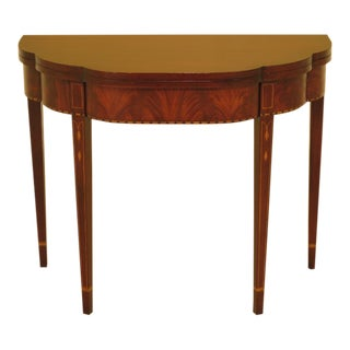 1990s Federal Henkel Harris Mahogany Hall Table For Sale