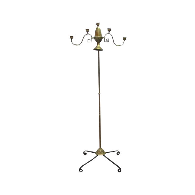 Turn of the Century Brass Standing Lamp For Sale