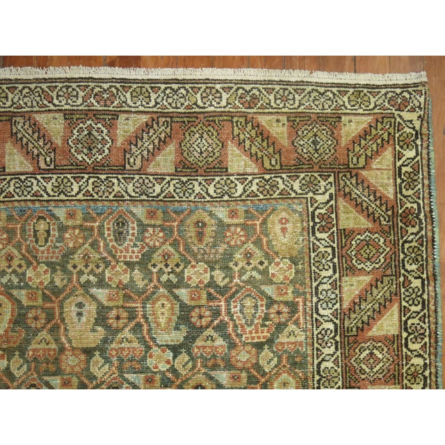 Americana Antique Persian Malayer Runner, 3'4'' X 20'2'' For Sale - Image 3 of 11