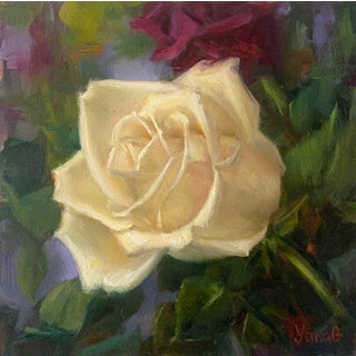 """""""Cream Rose"""" Painting For Sale"""