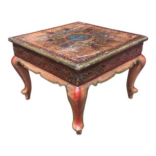 Early 20th Century Antique Indian Bench For Sale