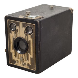 Mid-Century Leather Box Camera C.1950 For Sale